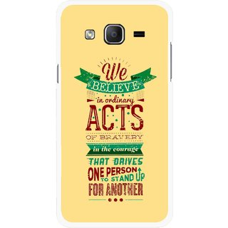 Snooky Printed Bravery Mobile Back Cover For Samsung Galaxy On7 - Multicolour
