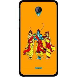 Snooky Printed God Rama Mobile Back Cover For Micromax Canvas Unite 2 - Multicolour