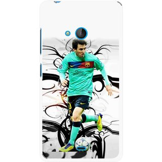 Snooky Printed Football Champion Mobile Back Cover For Nokia Lumia 540 - Multicolour