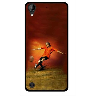 Snooky Printed Football Mania Mobile Back Cover For HTC Desire 630 - Multi