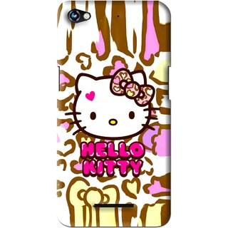Snooky Printed Cute Kitty Mobile Back Cover For Micromax Canvas Hue 2 - Multi
