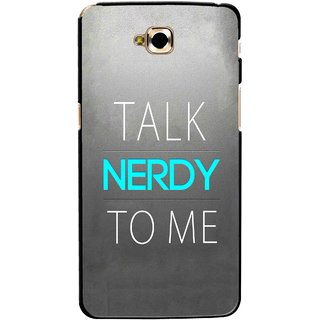 Snooky Printed Talk Nerdy Mobile Back Cover For Lg G Pro Lite - Multicolour