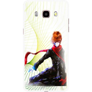 Snooky Printed Stylo Boy Mobile Back Cover For Samsung Galaxy J7 (2016) - Multicolour