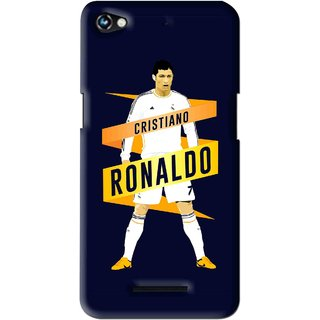 Snooky Printed Ronaldo Mobile Back Cover For Micromax Canvas Hue 2 - Multi