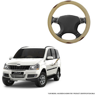 Autofurnish (AFSC-710 Bay Beige) Leatherite Car Steering Cover For Mahindra Xylo