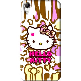 Snooky Printed Cute Kitty Mobile Back Cover For HTC Desire 728 - Multi