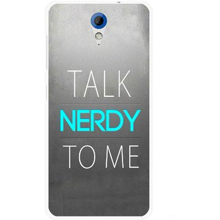 Snooky Printed Talk Nerdy Mobile Back Cover For HTC Desire 620 - Multicolour