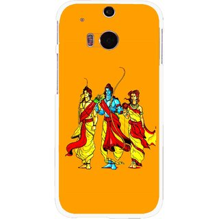 Snooky Printed God Rama Mobile Back Cover For HTC One M8 - Multicolour