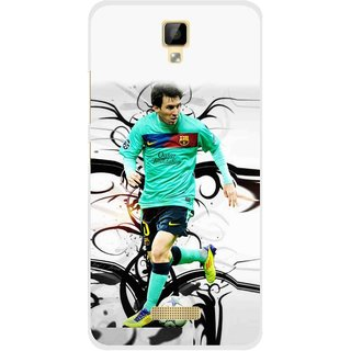Snooky Printed Football Champion Mobile Back Cover For Gionee P7 - Multicolour