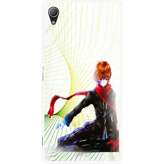 Snooky Printed Stylo Boy Mobile Back Cover For Sony Xperia Z3 Plus - Multi