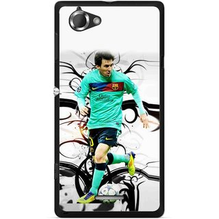 Snooky Printed Football Champion Mobile Back Cover For Sony Xperia L - Multicolour
