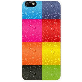 Snooky Printed Water Droplets Mobile Back Cover For Huawei Honor 4X - Multi