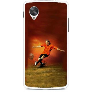 Snooky Printed Football Mania Mobile Back Cover For Lg Google Nexus 5 - Multi