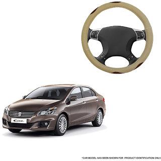 Autofurnish (AFSC-710 Bay Beige) Leatherite Car Steering Cover For Maruti Ciaz