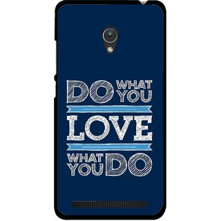 Snooky Printed Love Your Work Mobile Back Cover For Asus Zenfone 5 - Multicolour