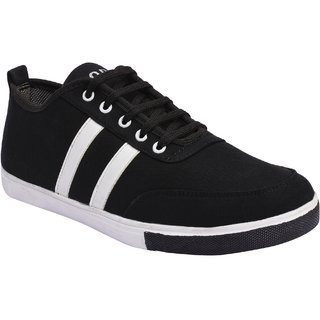 GurSmith Black Casual Shoes For Mens  GS737
