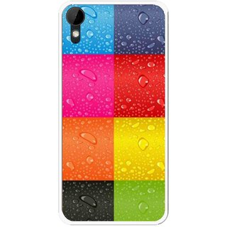 Snooky Printed Water Droplets Mobile Back Cover For HTC Desire 825 - Multi