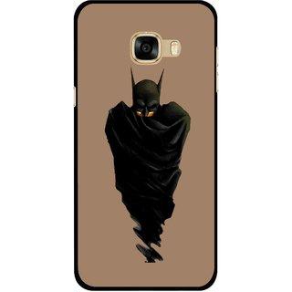 Snooky Printed Hiding Man Mobile Back Cover For Samsung Galaxy C7 - Multicolour