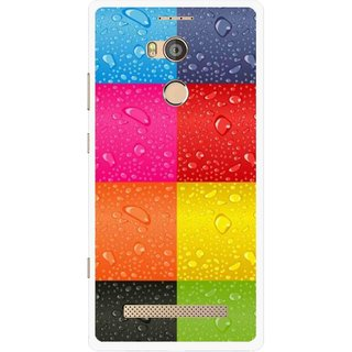 Snooky Printed Water Droplets Mobile Back Cover For Gionee Elife E8 - Multicolour