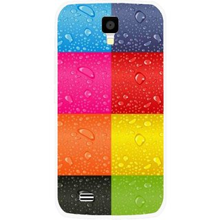 Snooky Printed Water Droplets Mobile Back Cover For Gionee Pioneer P2S - Multicolour