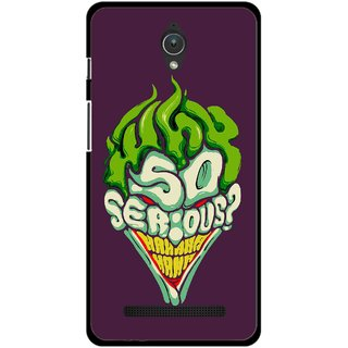 Snooky Printed Serious Mobile Back Cover For Asus Zenfone C - Multicolour