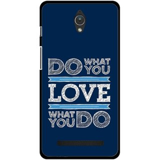 Snooky Printed Love Your Work Mobile Back Cover For Asus Zenfone C - Multicolour
