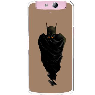Snooky Printed Hiding Man Mobile Back Cover For Oppo N1 - Multicolour