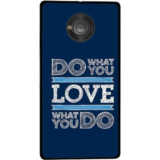 Snooky Printed Love Your Work Mobile Back Cover For Micromax Yu Yuphoria - Multicolour