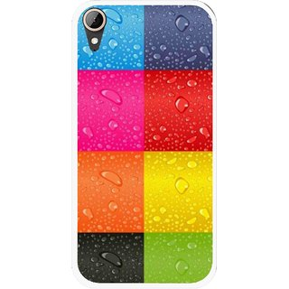 Snooky Printed Water Droplets Mobile Back Cover For HTC Desire 830 - Multi