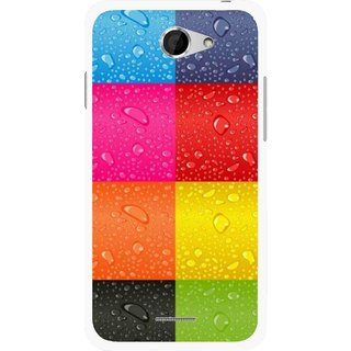 Snooky Printed Water Droplets Mobile Back Cover For HTC Desire 516 - Multicolour