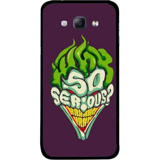 Snooky Printed Serious Mobile Back Cover For Samsung Galaxy A8 - Multicolour