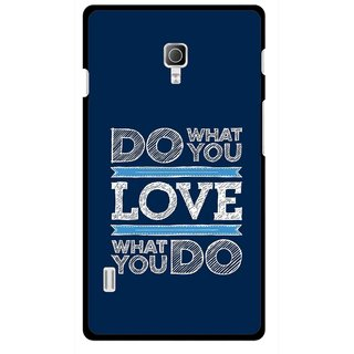 Snooky Printed Love Your Work Mobile Back Cover For Lg Optimus L7 II P715 - Multicolour