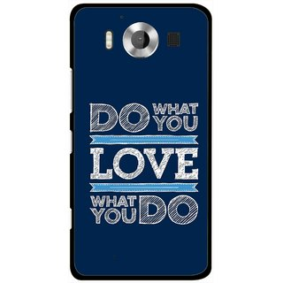 Snooky Printed Love Your Work Mobile Back Cover For Microsoft Lumia 950 - Multicolour
