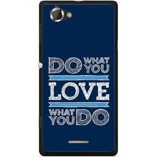 Snooky Printed Love Your Work Mobile Back Cover For Sony Xperia L - Multicolour