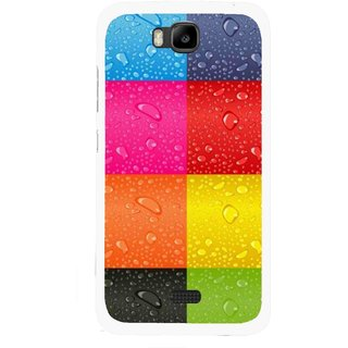 Snooky Printed Water Droplets Mobile Back Cover For Huawei Honor Bee - Multicolour