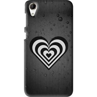 Snooky Printed Hypro Heart Mobile Back Cover For HTC Desire 728 - Multi