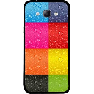 Snooky Printed Water Droplets Mobile Back Cover For Samsung Galaxy A8 - Multicolour