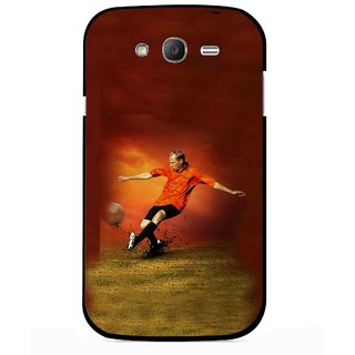 Snooky Printed Football Mania Mobile Back Cover For Samsung Galaxy Grand I9082 - Multicolour