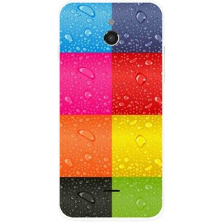 Snooky Printed Water Droplets Mobile Back Cover For Infocus M2 - Multicolour