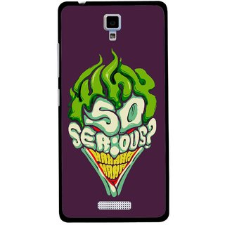 Snooky Printed Serious Mobile Back Cover For Gionee Pioneer P4 - Multicolour
