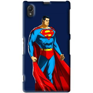 Snooky Printed Super Hero Mobile Back Cover For Sony Xperia Z1 - Multi