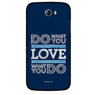 Snooky Printed Love Your Work Mobile Back Cover For Micromax Bolt A068 - Multicolour