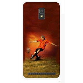 Snooky Printed Football Mania Mobile Back Cover For Lenovo A6600 - Multicolour