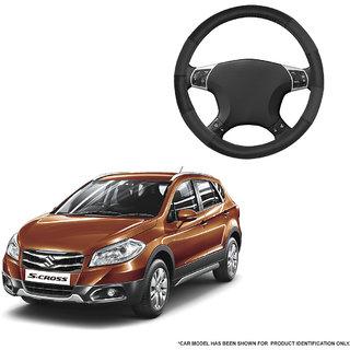 Autofurnish (AFSC-711 Dove Black) Leatherite Car Steering Cover For Maruti S-Cross