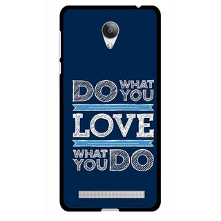 Snooky Printed Love Your Work Mobile Back Cover For Vivo Y28 - Multicolour