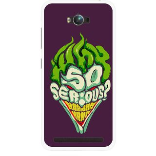 Snooky Printed Serious Mobile Back Cover For Asus Zenfone Max - Multicolour