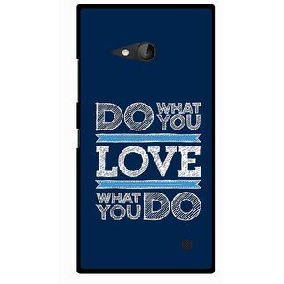 Snooky Printed Love Your Work Mobile Back Cover For Nokia Lumia 730 - Multicolour