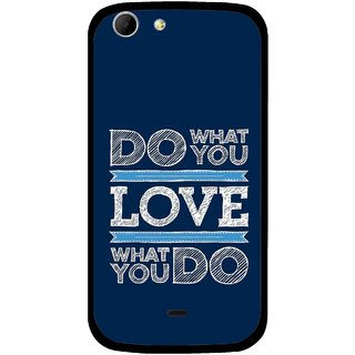 Snooky Printed Love Your Work Mobile Back Cover For Micromax Canvas 4 A210 - Multicolour