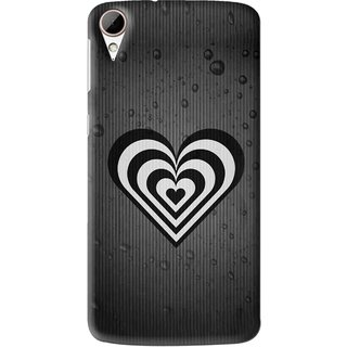 Snooky Printed Hypro Heart Mobile Back Cover For HTC Desire 828 - Multi