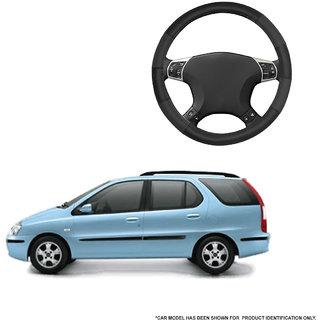 Autofurnish (AFSC-711 Dove Black) Leatherite Car Steering Cover For Tata Indigo Marina